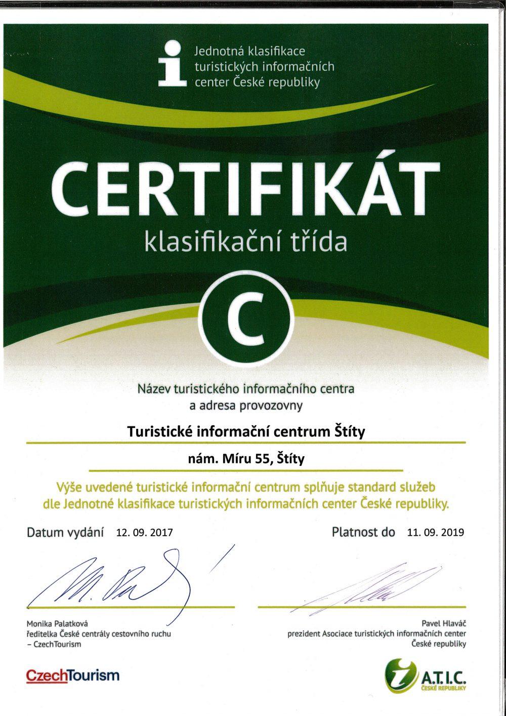 TIC certifikát