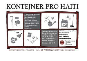 kontejner na Haiti - plakát