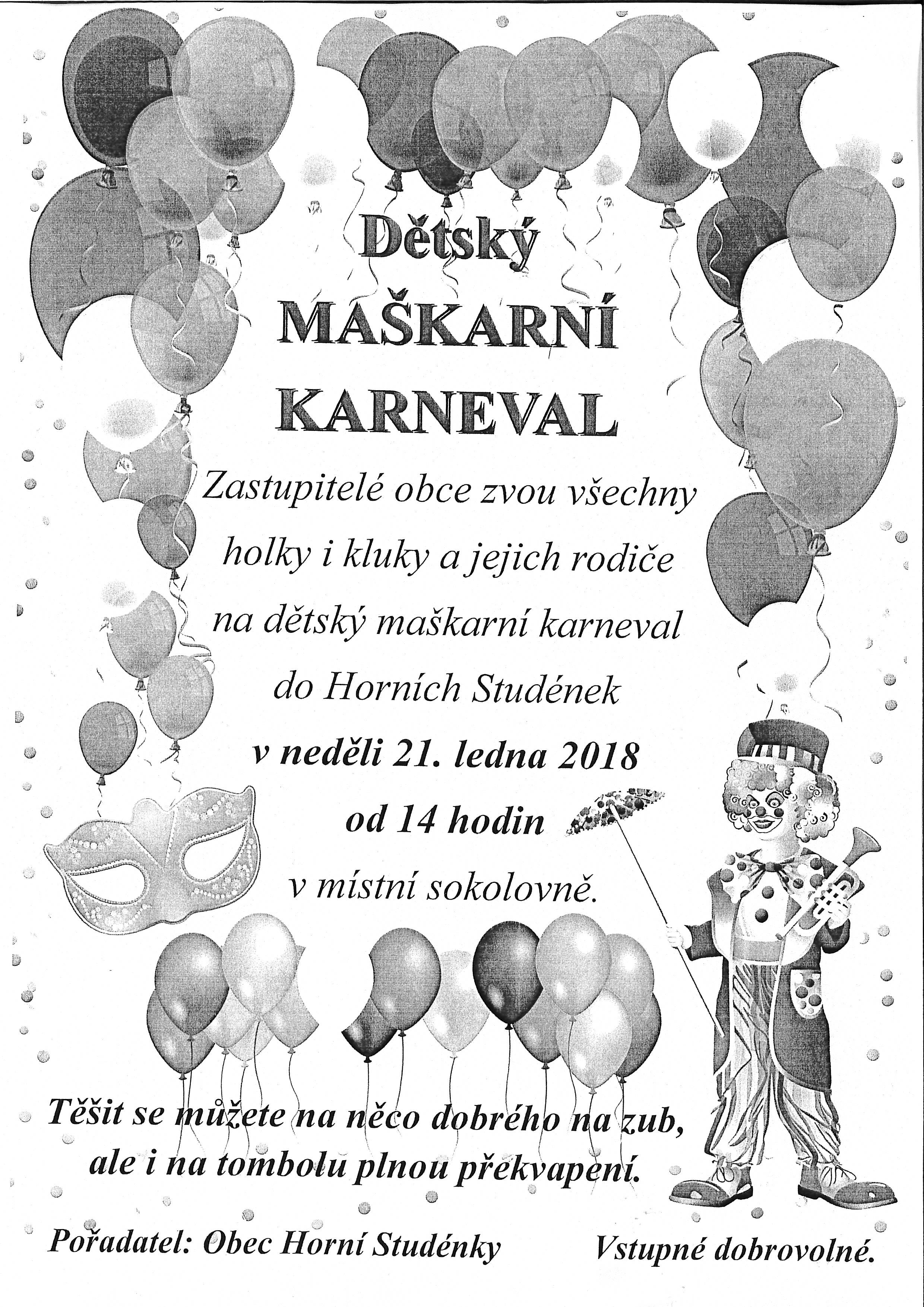 Karneval Studýnky