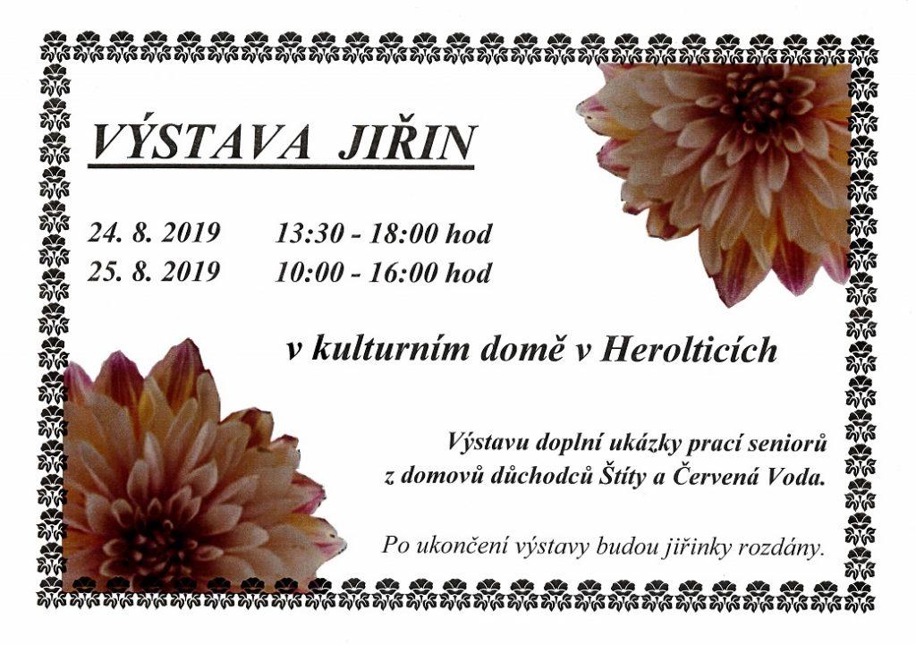 Výstavy jiřin Heroltice